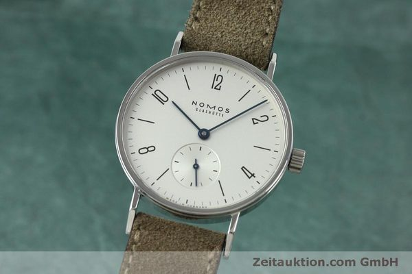 Used luxury watch Nomos Tangente steel manual winding Kal. Alpha 92474  | 152393 04