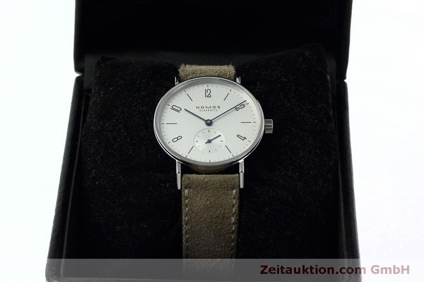 Used luxury watch Nomos Tangente steel manual winding Kal. Alpha 92474  | 152393 07