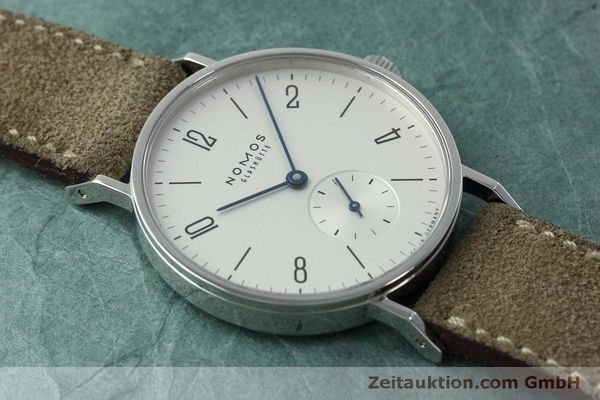 Used luxury watch Nomos Tangente steel manual winding Kal. Alpha 92474  | 152393 15
