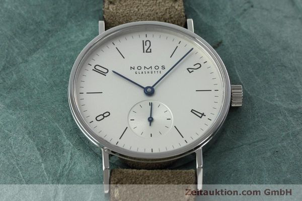 Used luxury watch Nomos Tangente steel manual winding Kal. Alpha 92474  | 152393 16