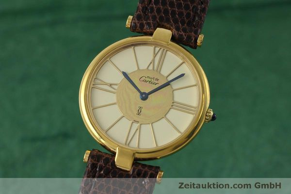 Used luxury watch Cartier Vermeil silver-gilt quartz Kal. 81  | 152401 04