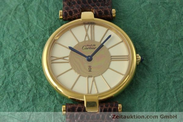 Used luxury watch Cartier Vermeil silver-gilt quartz Kal. 81  | 152401 12