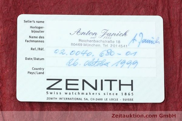 Used luxury watch Zenith Elite steel automatic Kal. 680 Ref. 90/01 0040 680  | 152412 08