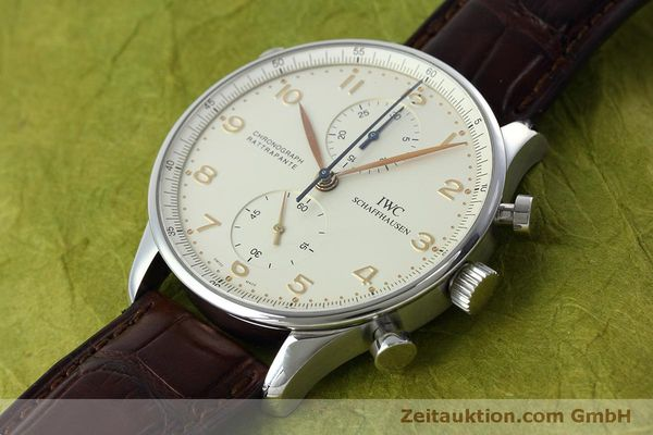 Used luxury watch IWC Portugieser chronograph steel manual winding Kal. 76240 Ref. 3712  | 152413 01