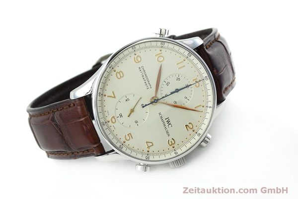 Used luxury watch IWC Portugieser chronograph steel manual winding Kal. 76240 Ref. 3712  | 152413 03
