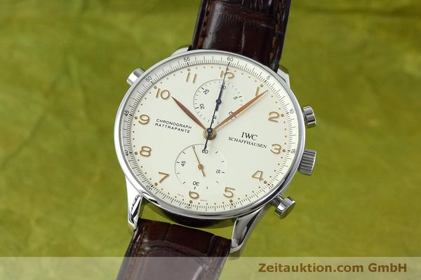 Used luxury watch IWC Portugieser chronograph steel manual winding Kal. 76240 Ref. 3712  | 152413 04