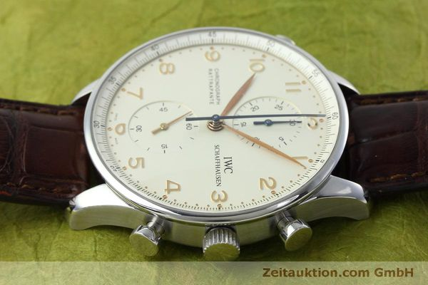 Used luxury watch IWC Portugieser chronograph steel manual winding Kal. 76240 Ref. 3712  | 152413 05