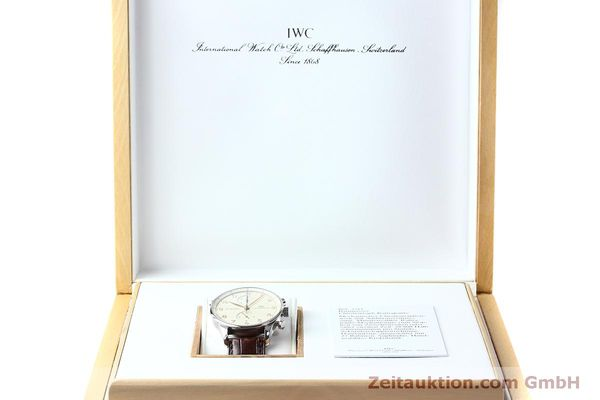 Used luxury watch IWC Portugieser chronograph steel manual winding Kal. 76240 Ref. 3712  | 152413 07