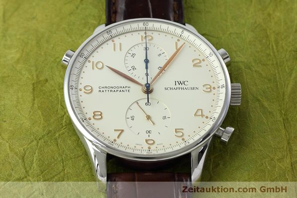 Used luxury watch IWC Portugieser chronograph steel manual winding Kal. 76240 Ref. 3712  | 152413 19