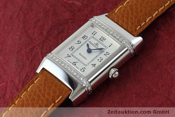 Used luxury watch Jaeger Le Coultre Reverso steel quartz Kal. 608 Ref. 265.8.08  | 152418 01