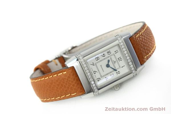Used luxury watch Jaeger Le Coultre Reverso steel quartz Kal. 608 Ref. 265.8.08  | 152418 03