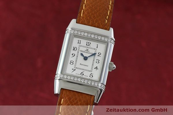 Used luxury watch Jaeger Le Coultre Reverso steel quartz Kal. 608 Ref. 265.8.08  | 152418 04