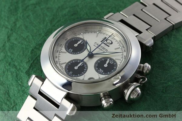 Used luxury watch Cartier Pasha chronograph steel automatic Kal. 047 ETA 2894-2 Ref. 2412  | 152419 01