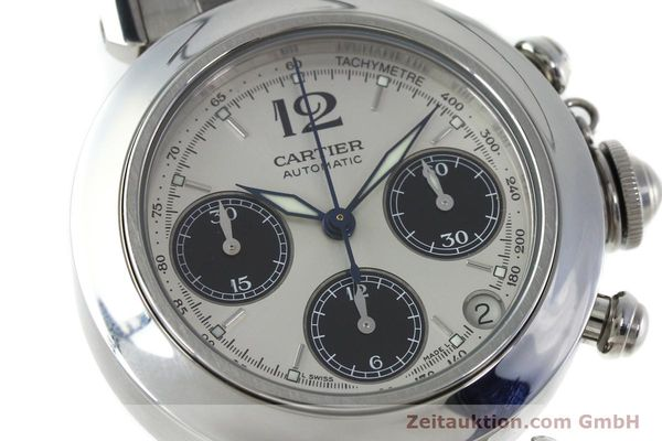 Used luxury watch Cartier Pasha chronograph steel automatic Kal. 047 ETA 2894-2 Ref. 2412  | 152419 02