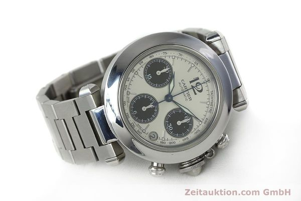 Used luxury watch Cartier Pasha chronograph steel automatic Kal. 047 ETA 2894-2 Ref. 2412  | 152419 03