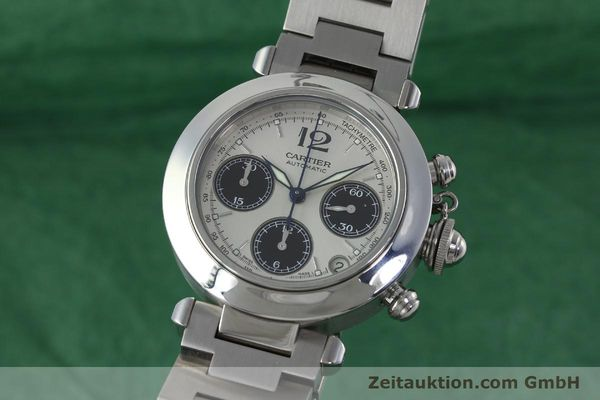 Used luxury watch Cartier Pasha chronograph steel automatic Kal. 047 ETA 2894-2 Ref. 2412  | 152419 04