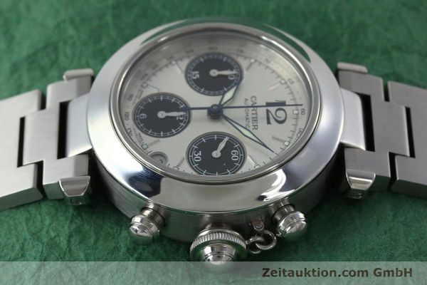 Used luxury watch Cartier Pasha chronograph steel automatic Kal. 047 ETA 2894-2 Ref. 2412  | 152419 05