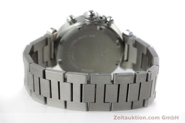 Used luxury watch Cartier Pasha chronograph steel automatic Kal. 047 ETA 2894-2 Ref. 2412  | 152419 11