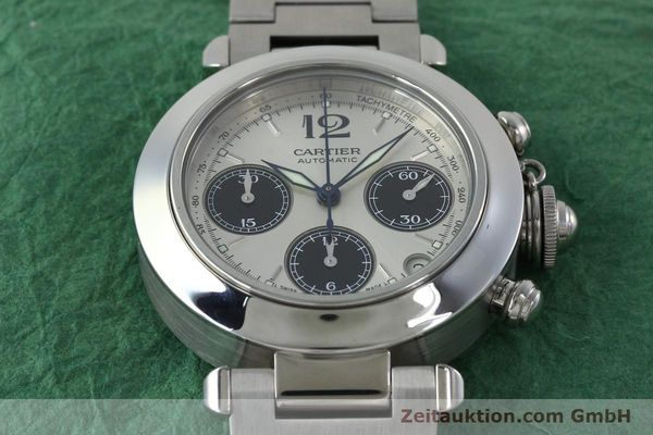 Used luxury watch Cartier Pasha chronograph steel automatic Kal. 047 ETA 2894-2 Ref. 2412  | 152419 15