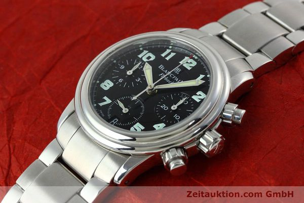 Used luxury watch Blancpain Leman chronograph steel automatic Kal. F 185  | 152431 01
