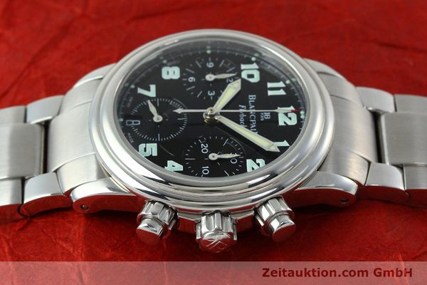 Used luxury watch Blancpain Leman chronograph steel automatic Kal. F 185  | 152431 05