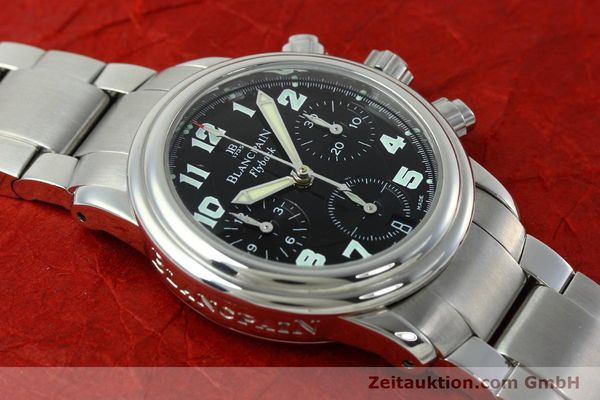 Used luxury watch Blancpain Leman chronograph steel automatic Kal. F 185  | 152431 13