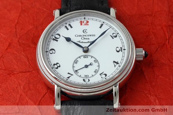 Used luxury watch Chronoswiss Orea steel manual winding Kal. C121 Ref. CH1263  | 152444 17
