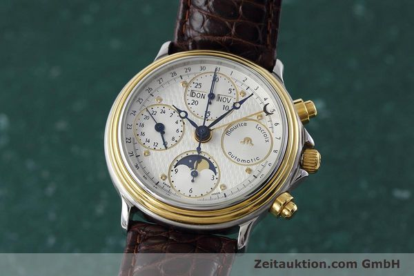 Used luxury watch Maurice Lacroix Phase de Lune  steel / gold automatic Kal. ETA 7751 Ref. 02336  | 152447 04