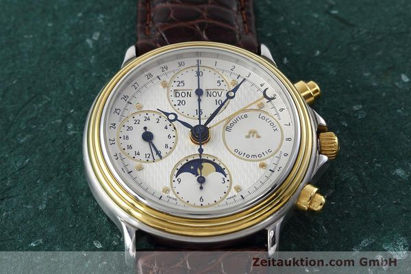Used luxury watch Maurice Lacroix Phase de Lune  steel / gold automatic Kal. ETA 7751 Ref. 02336  | 152447 14