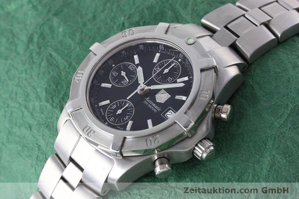 Used luxury watch Tag Heuer Professional chronograph steel automatic Kal. ETA 7750 Ref. CN2111  | 152463 01