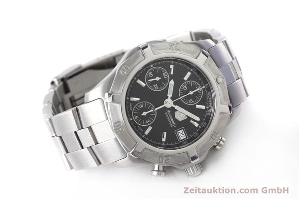 Used luxury watch Tag Heuer Professional chronograph steel automatic Kal. ETA 7750 Ref. CN2111  | 152463 03