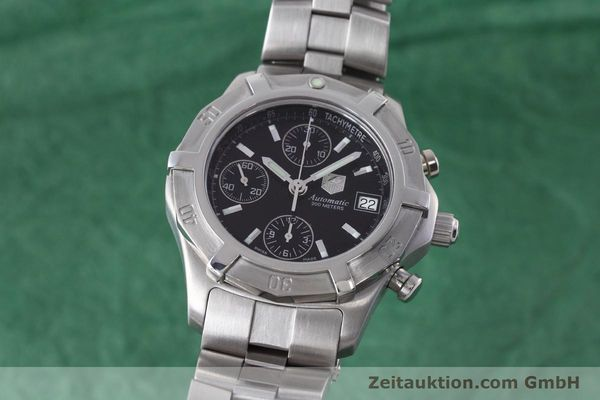 Used luxury watch Tag Heuer Professional chronograph steel automatic Kal. ETA 7750 Ref. CN2111  | 152463 04