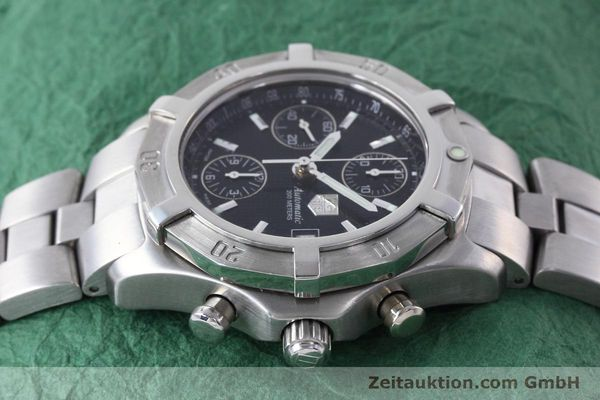 Used luxury watch Tag Heuer Professional chronograph steel automatic Kal. ETA 7750 Ref. CN2111  | 152463 05
