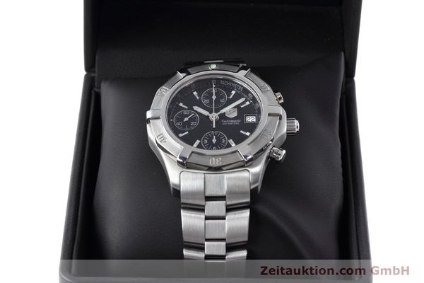 Used luxury watch Tag Heuer Professional chronograph steel automatic Kal. ETA 7750 Ref. CN2111  | 152463 07