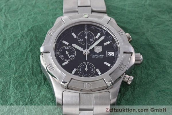 Used luxury watch Tag Heuer Professional chronograph steel automatic Kal. ETA 7750 Ref. CN2111  | 152463 14