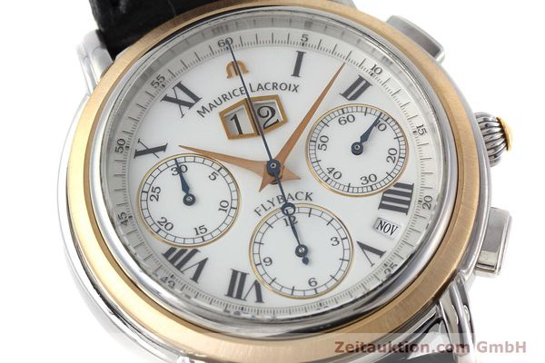 gebrauchte Luxusuhr Maurice Lacroix Masterpiece Flyback Chronograph Stahl / Gold Automatik Kal. ML15 ETA 2892A2 Ref. AD69327  | 152467 02