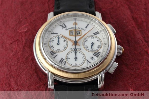gebrauchte Luxusuhr Maurice Lacroix Masterpiece Flyback Chronograph Stahl / Gold Automatik Kal. ML15 ETA 2892A2 Ref. AD69327  | 152467 14
