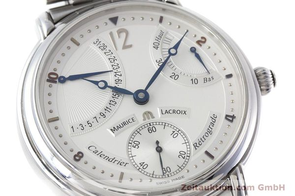 Used luxury watch Maurice Lacroix Masterpiece steel manual winding Kal. ML76 Ref. AE75896  | 152471 02