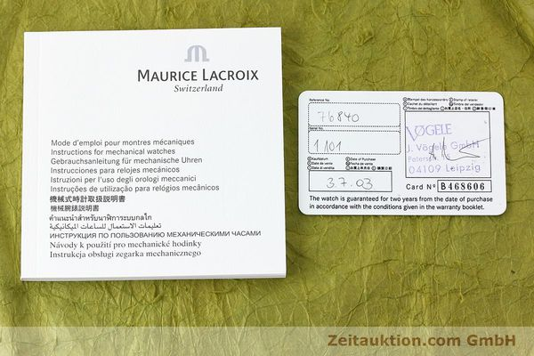 Used luxury watch Maurice Lacroix Masterpiece steel manual winding Kal. ML76 Ref. AE75896  | 152471 08