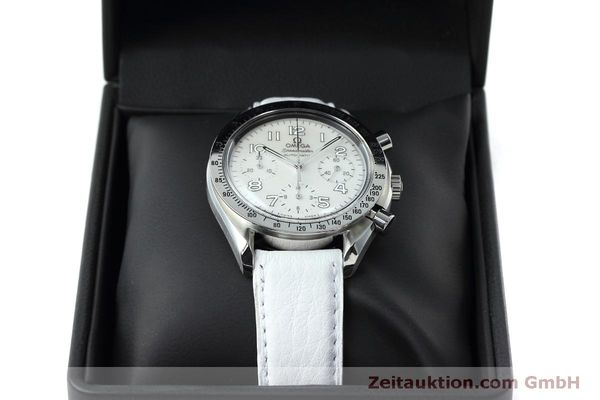 Used luxury watch Omega Speedmaster chronograph steel automatic Kal. 3220A Ref. 38027056  | 152483 07