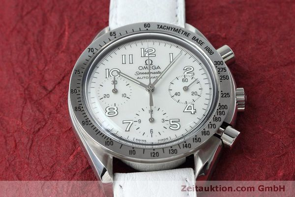 Used luxury watch Omega Speedmaster chronograph steel automatic Kal. 3220A Ref. 38027056  | 152483 15