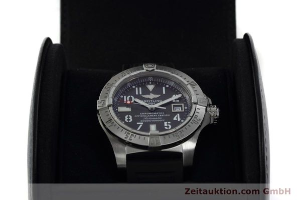 Used luxury watch Breitling Avenger Seawolf steel automatic Kal. B17 ETA 2824-2 Ref. A17330  | 152486 07