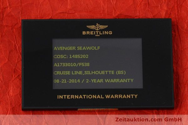 Used luxury watch Breitling Avenger Seawolf steel automatic Kal. B17 ETA 2824-2 Ref. A17330  | 152486 08
