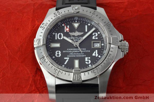 Used luxury watch Breitling Avenger Seawolf steel automatic Kal. B17 ETA 2824-2 Ref. A17330  | 152486 18