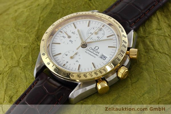 Used luxury watch Omega Speedmaster chronograph steel / gold automatic Kal. 1155 ETA 7750 Ref. 175.0043, 375.0043  | 152489 01