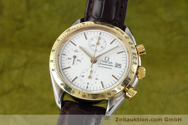 Used luxury watch Omega Speedmaster chronograph steel / gold automatic Kal. 1155 ETA 7750 Ref. 175.0043, 375.0043  | 152489 04