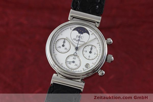 Used luxury watch IWC Portofino chronograph steel quartz Kal. 630 Ref. 3735  | 152490 04