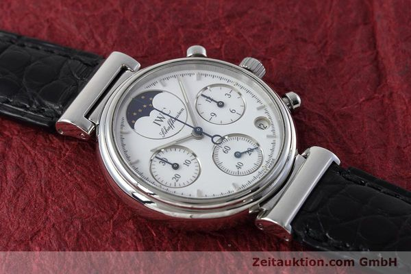 Used luxury watch IWC Portofino chronograph steel quartz Kal. 630 Ref. 3735  | 152490 14