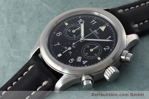 Used luxury watch IWC Fliegerchronograph chronograph steel quartz Kal. 630 Ref. 3741  | 152493 01