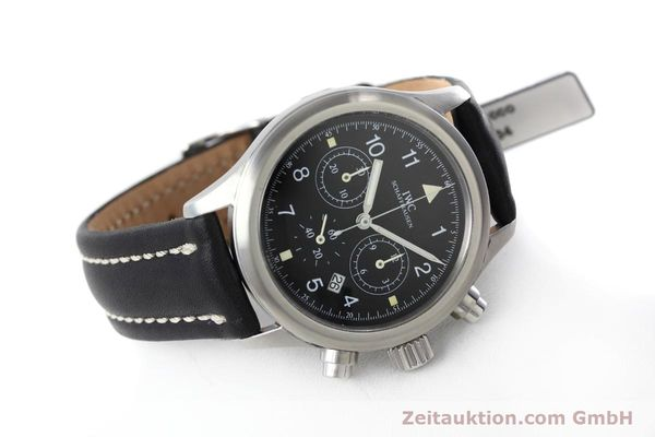 Used luxury watch IWC Fliegerchronograph chronograph steel quartz Kal. 630 Ref. 3741  | 152493 03